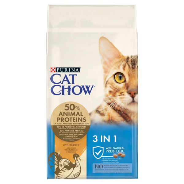 Purina Cat Chow Special Care 3w1 indyk 15 kg